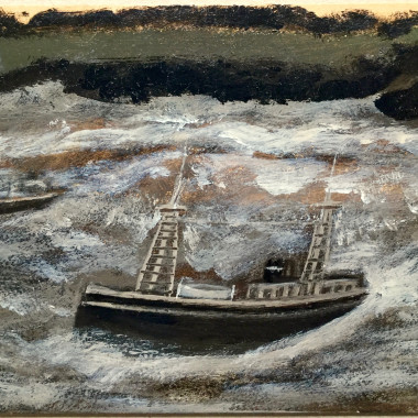 Alfred Wallis - Two Ships in a Rough Sea