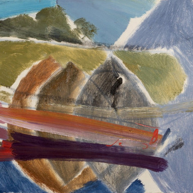 Ivon Hitchens - Long Boat and Avenue, 1958 circa