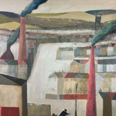 Nicholas Turner - Valley with Red Chimney, 2019
