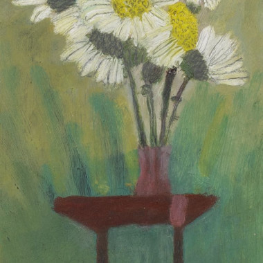 Mary Newcomb - Still life, Daisies in a Vase on a Table, 1976