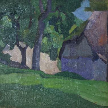 Robert Bevan - Study of Dunn's Cottage, Applehayes, Somerset, 1915