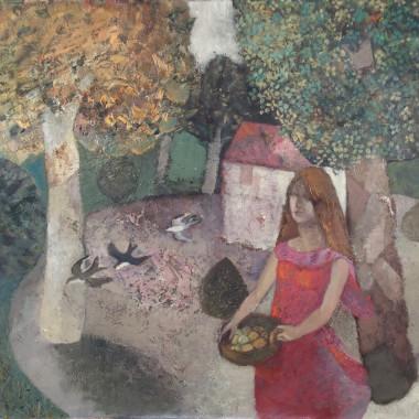 Gwyneth Johnstone - Girl with Birds