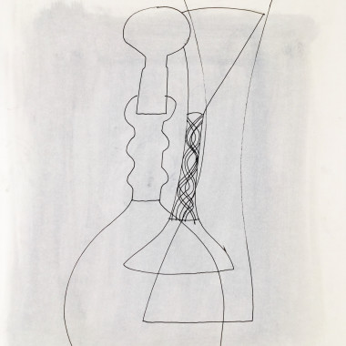 Ben Nicholson - Untitled (Stoppered Vase and Goblet), 1972
