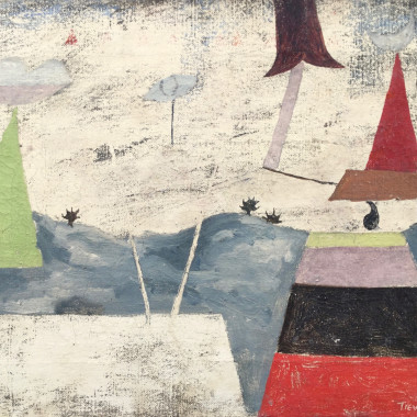Julian Trevelyan - Surrealist Landscape (Dream City), 1937