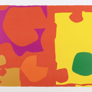 Patrick Heron - Six in Vermillion with Green in Yellow, 1970