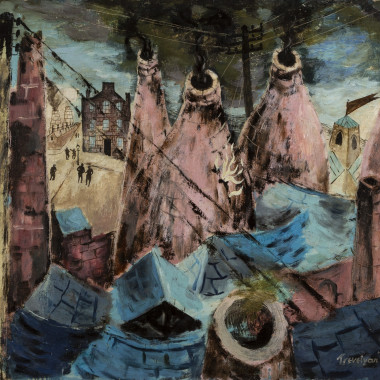 Julian Trevelyan - Kilns at Burslem, 1938-43