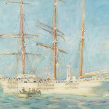 Henry Scott Tuke - The White Barque, 1901