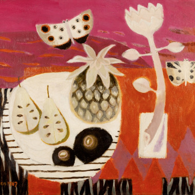 Mary Fedden - The Red Table, 1987