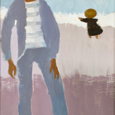 Mary Fedden - Man and Girl (Julian Trevelyan), 1984