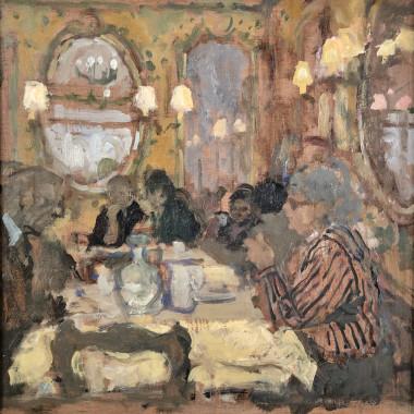 Bernard Dunstan - Caffe Quadri (St Marks, Venice), 1985