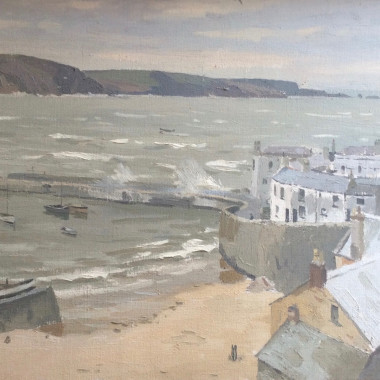 Donald Chisholm Towner - Tenby Harbour Stormy Day