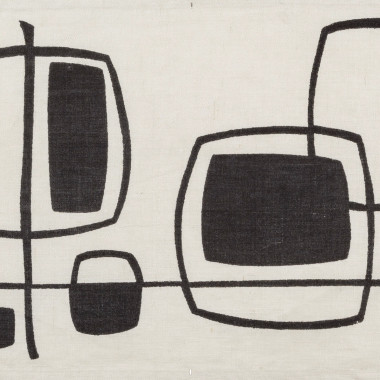 Michael Snow - Abstract (Black), from Porthia, c 1955