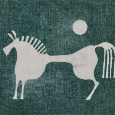 Denis Mitchell - Design for White Horse Table Linen, from Porthia, c 1955