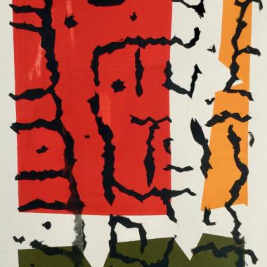 William Gear - Hedgerow Trunks, 1952