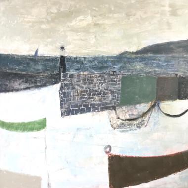 Nicholas Turner - Blue Sail and Lighthouse