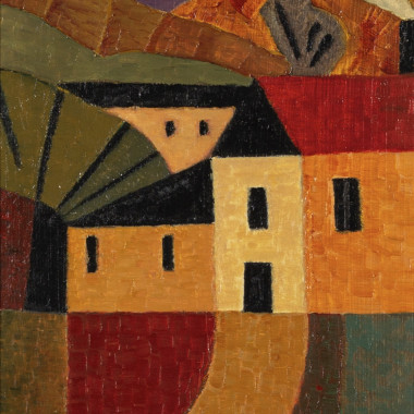 Anne Rothenstein - Yellow House with Smoking Chimney, c 1995
