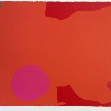 Patrick Heron - Magenta Disc and Red Edge
