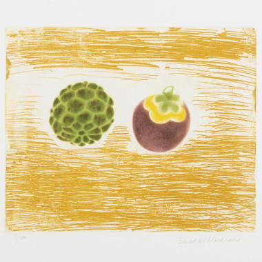 Elizabeth Blackadder - Exotic Fruits (Cherimoya and Mangosteen), 1989