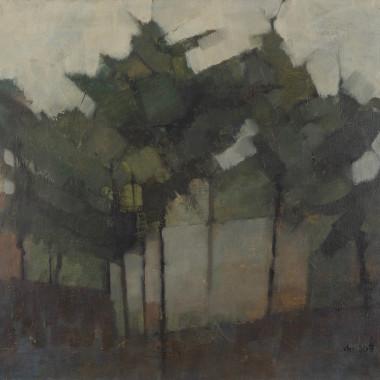 John Scott - Untitled (Landscape with Trees), c 1959