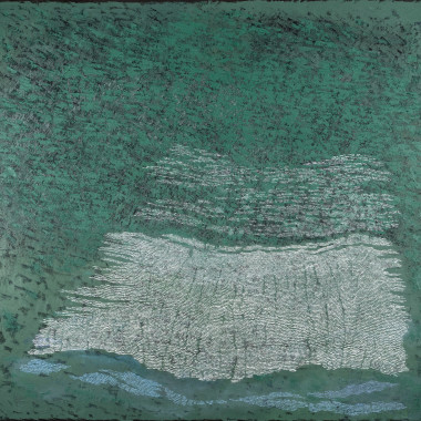 Pamela Burns - Estuary Green on Black