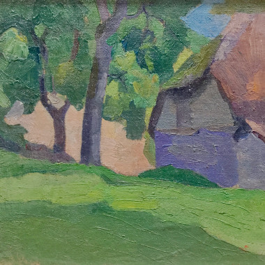Robert Bevan - Study of Dunn's Cottage, Applehayes, Somerset, 1915