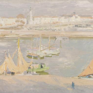 William Nicholson - La Rochelle, the Harbour, 1939