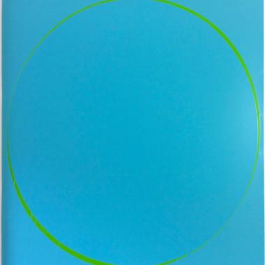 Ian Davenport - Oval: Turquoise, 2002