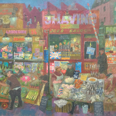 James Fitton - Market Scene, London, 1973