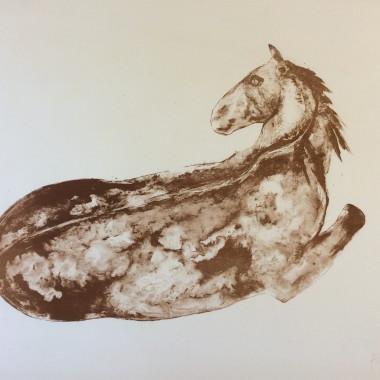 Elisabeth Frink - Petit cheval couché, 1972