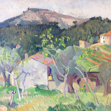 Robin Wallace - French Landscape with Hill