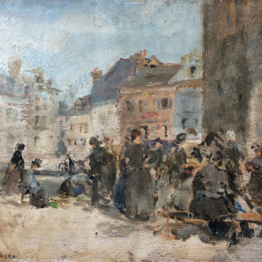 Ethel Walker - Market at Honfleur, c 1928