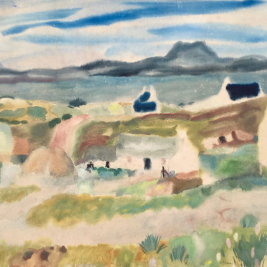 William George Gillies - Lochside View, c 1940s