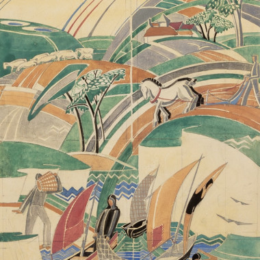 Phyllis Johnston - Design for a Mural, c 1930s
