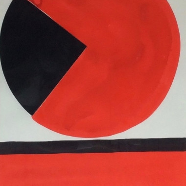 Terry Frost - Red and Black, 1980