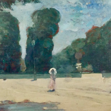 Gerald Festus Kelly - In the Luxembourg Gardens, c 1910s