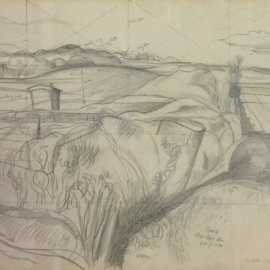 John Nash - Study for The Deserted Sheep Pen, c 1939