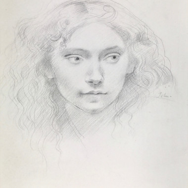 Augustus John - Portrait Study of a Young Girl