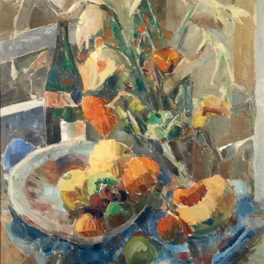 Elliott Seabrooke - Still life with Wine Bottle
