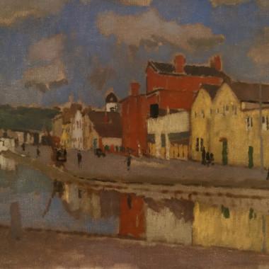 Edward Morland Lewis - Cork Scene (Union Quay), 1930