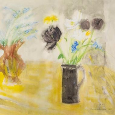 Elizabeth Blackadder - Two Jugs of Flowers, 1965