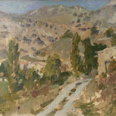 Bernard Dunstan - Provençal Landscape, 1972