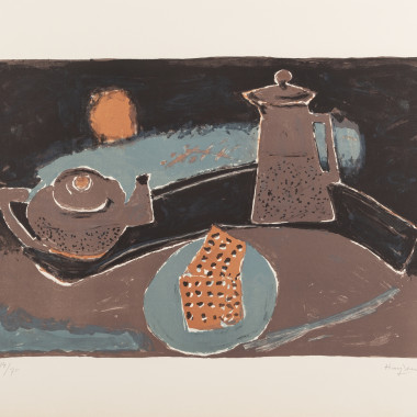 Henri Hayden - Nature morte brune, 1968