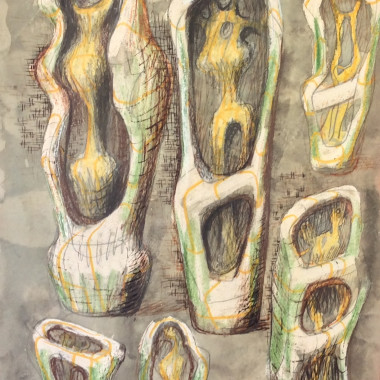 Henry Moore - Ideas for Upright Internal/External Forms