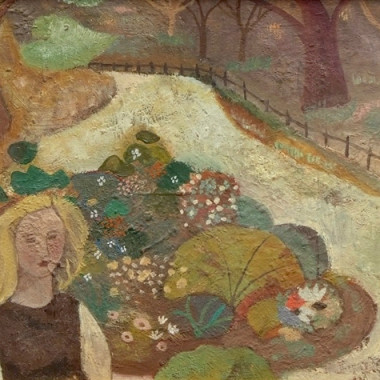 Gwyneth Johnstone - Girl in a Garden