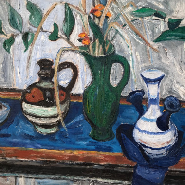 William George Gillies - Still Life with Solomoon's Seal