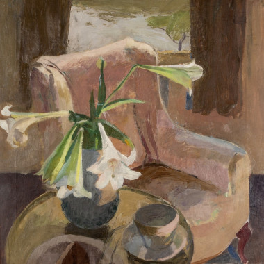 Mary Potter - Interior Still life with Lillies, Chiswick, 1927