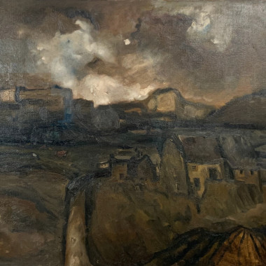 Sheila Fell - Landscape with Cottages, 1950 circa