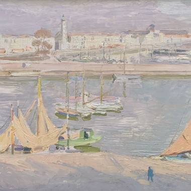 William Nicholson - La Rochelle, the Harbour, 1939