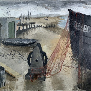 Nan Youngman - Seashore and Boats, 1937