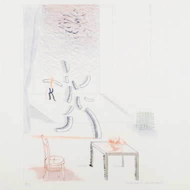 David Hockney - Tick it, Tock it, Turn it True, 1976-77
